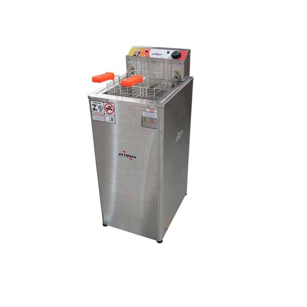 Fritadeira Elétrica Água eÓleo Inox de Piso Frp-18 220v Skymsen