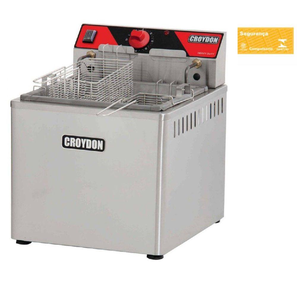Fritadeira Elétrica De Mesa 5000W Zona Fria 15 Litros Fzm5-2 Croydon