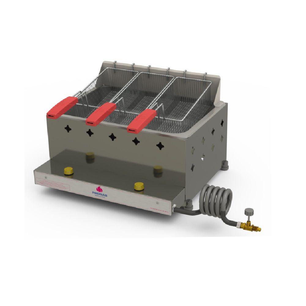 Fritadeira Inox a Gás 10 Litros 3 cestos PR-30G G2 Progás