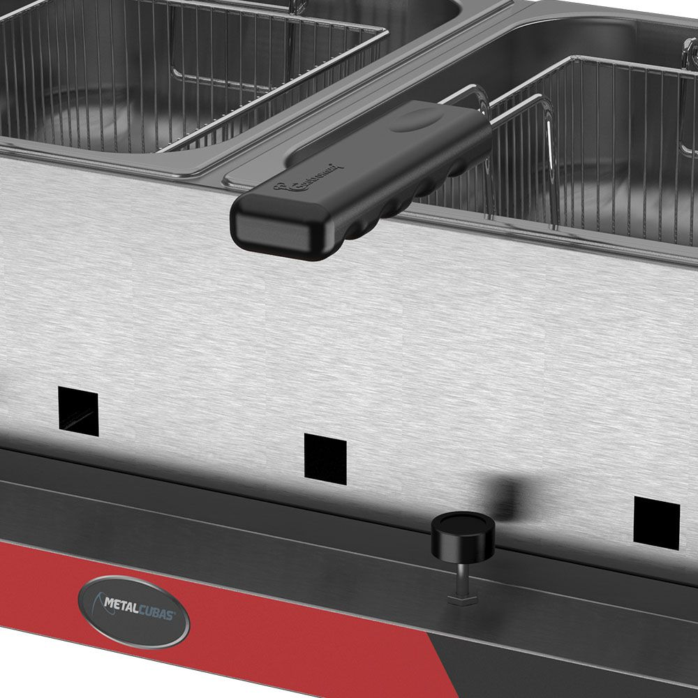 Fritadeira 6 litros 2 Cubas a Gás Alta Pressão FRCG 06 Metalcubas