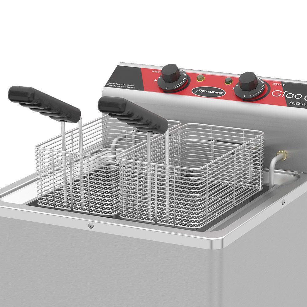 Fritadeira Água e Óleo 30 L de Pedestal GFAO 30 P 8000W 220v Metalcubas