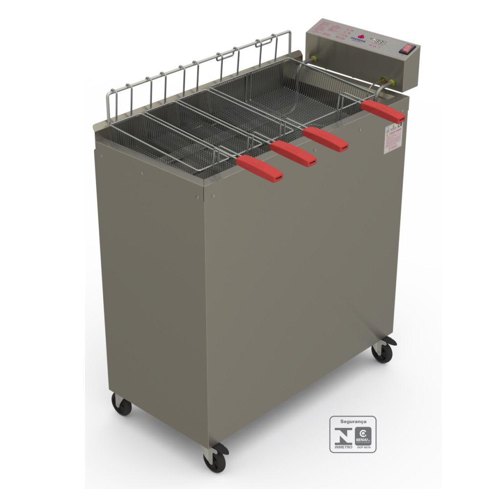 Fritador Água e Óleo 6000w Eletrônico 28 litros PR-3000EL 220V Progás