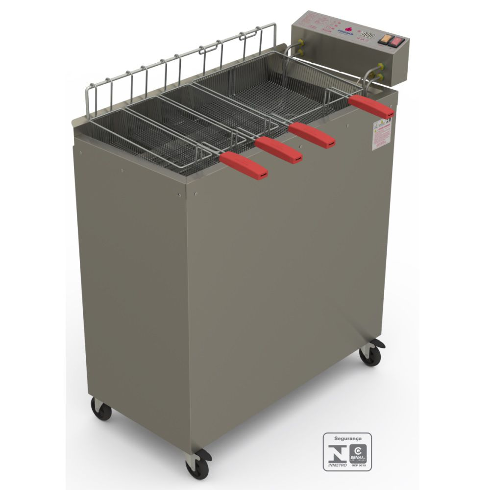 Fritador Água e Óleo 8000w Eletrônico 28 litros PR-3008EL 220V  Progás