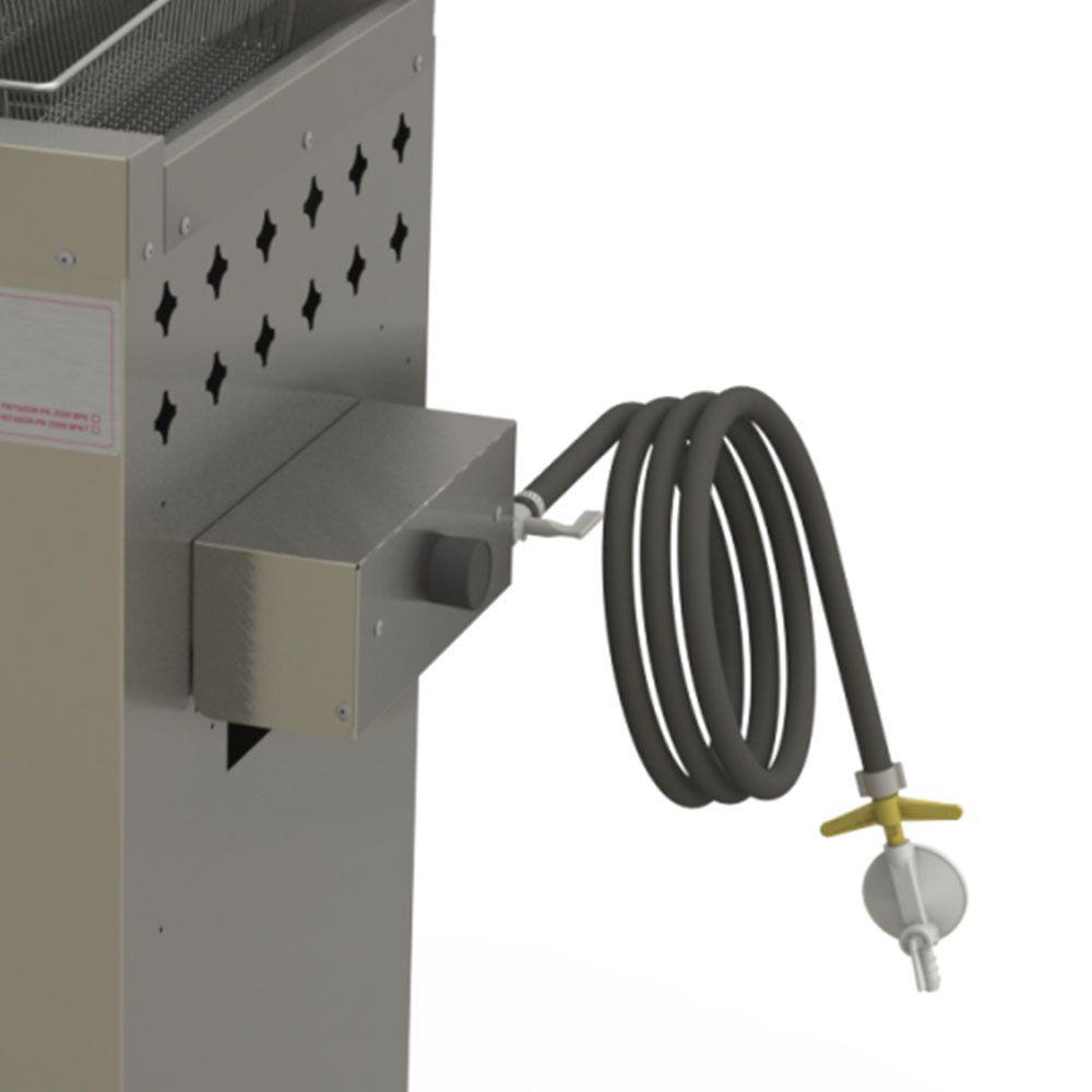 Fritador Água e Óleo Fry Fritter Style 20 Litros a Gás Baixa Pressão PR-2000BPG STYLE Progás