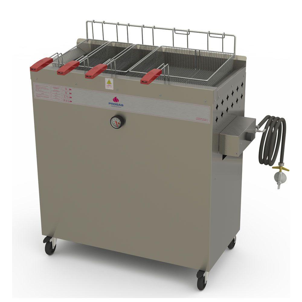 Fritador Água e Óleo Fry Fritter Style 30 Litros a Gás Baixa Pressão PR-3000BPG STYLE Progás