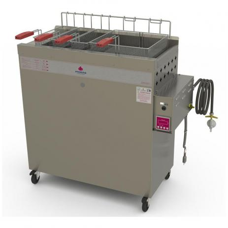Fritador Água e Óleo Fry Fritter Style 30 Litros a Gás Baixa Pressão PR-3000BPAT 220V Progás