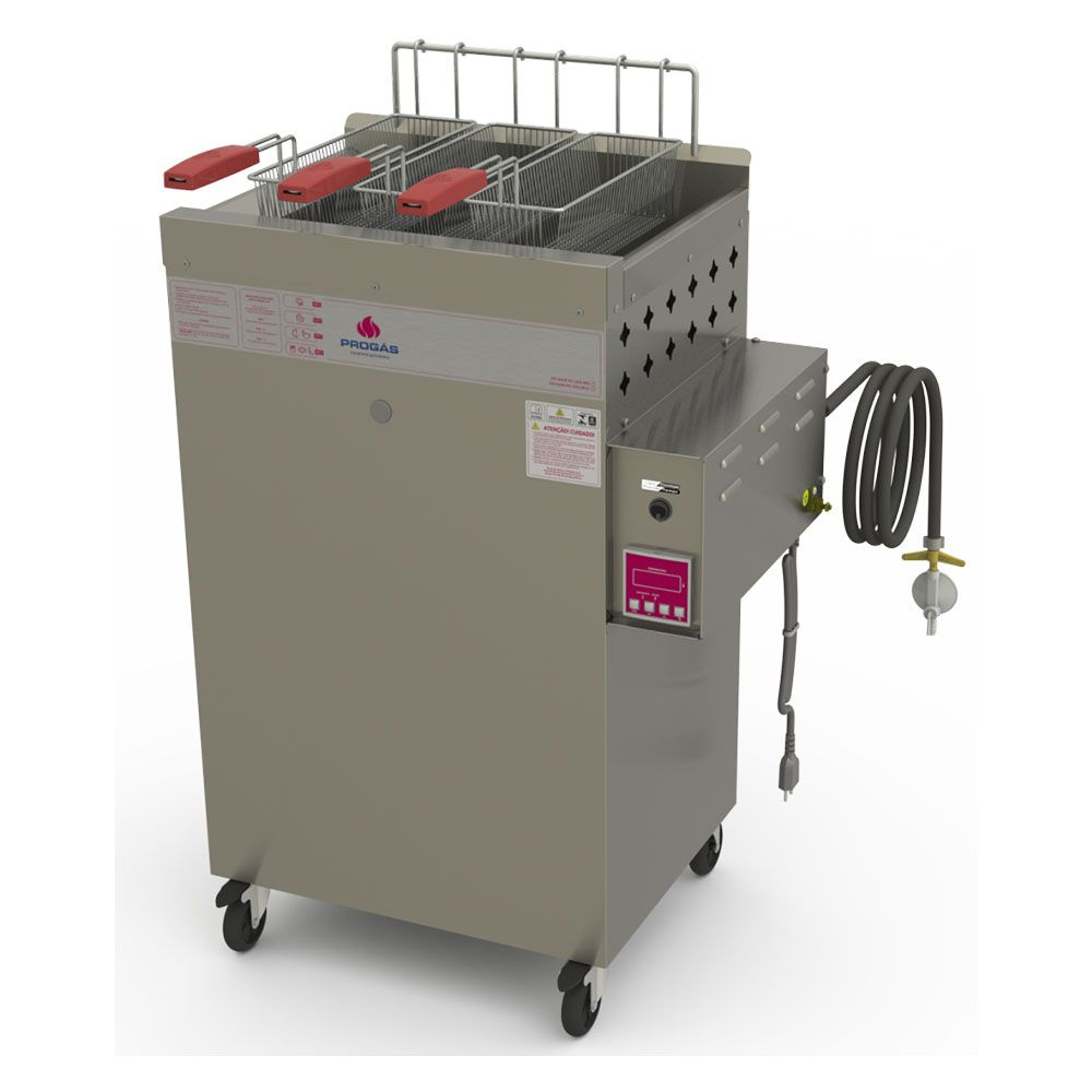Fritador Água e Óleo  Fry Fritter Style 20 Litros a Gás Baixa Pressão PR-2000BPAT 220V  Progás