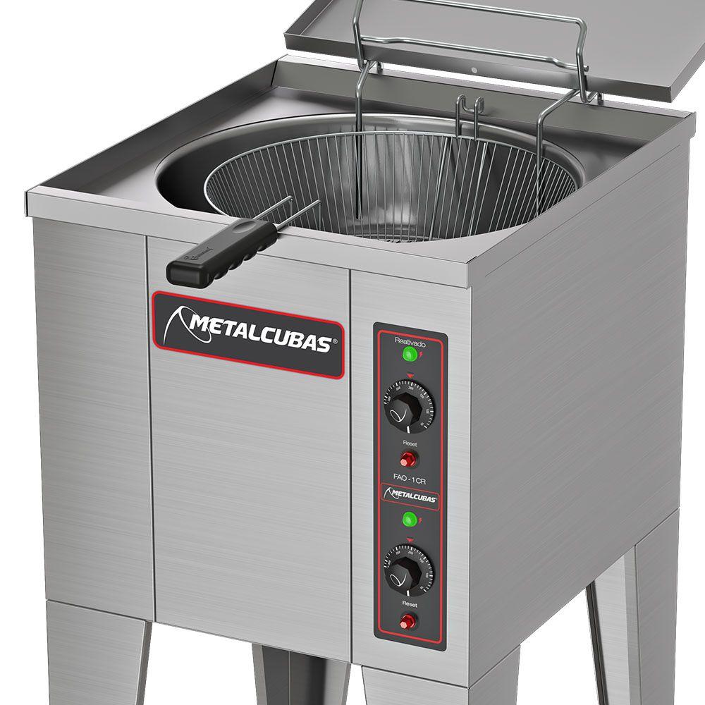 Fritadeira Industrial 10000W Água e Óleo  10.000W  FAO 1 CR 220v Metalcubas