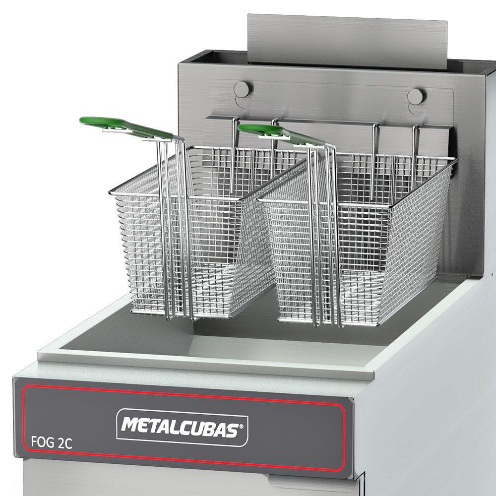 Fritadeira Industrial a Gás 30 Litros FOG 2 C Metalcubas