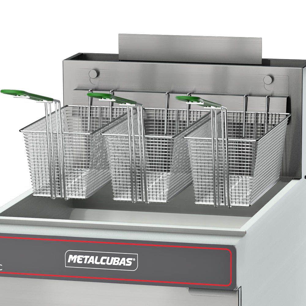Fritador Industrial a Gás 45 Litros FOG 3 C Metalcubas
