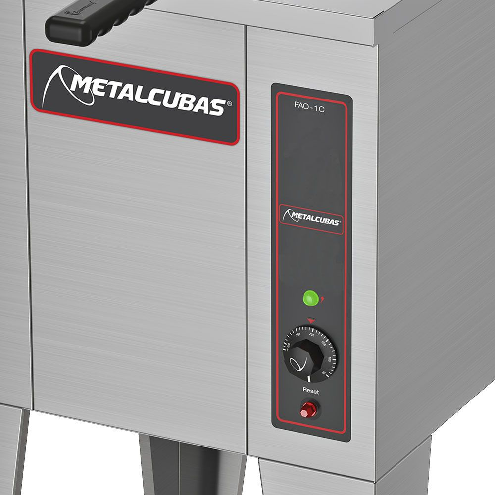 Fritadeira Industrial Água e Óleo Industrial 5000W FAO 1 C 220v Metalcubas