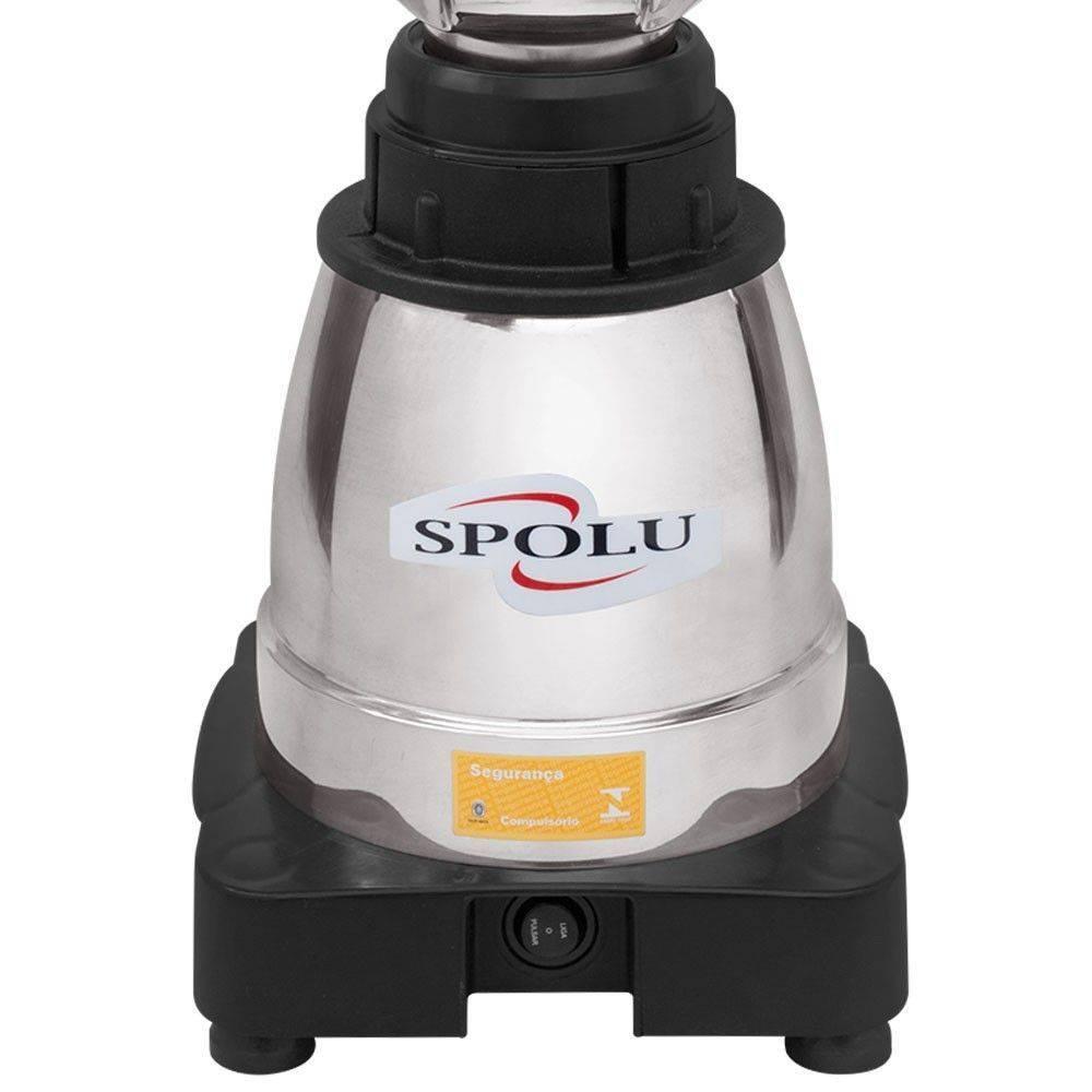 Liquidificador Alta Rotação Gourmet Luxo 1.5 Litros Copo Inox Sem Soldas 127V SPL-061  - Spolu