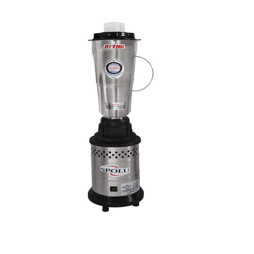 Liquidificador Attak Alta Rotação 1,75 L Copo Inox 127v SPL-037 Spolu