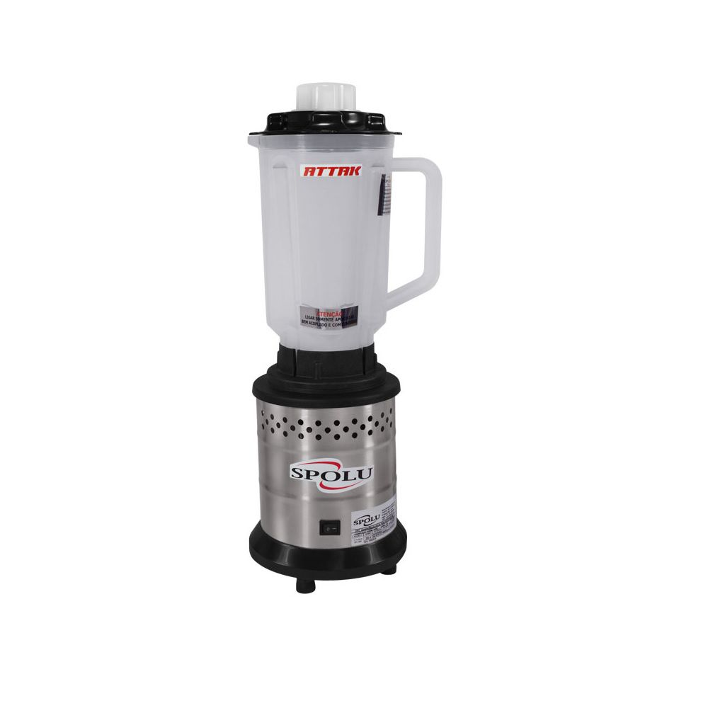 Liquidificador Attak Alta Rotação 1,75 L Copo Polipropileno 127v SPL-033 Spolu