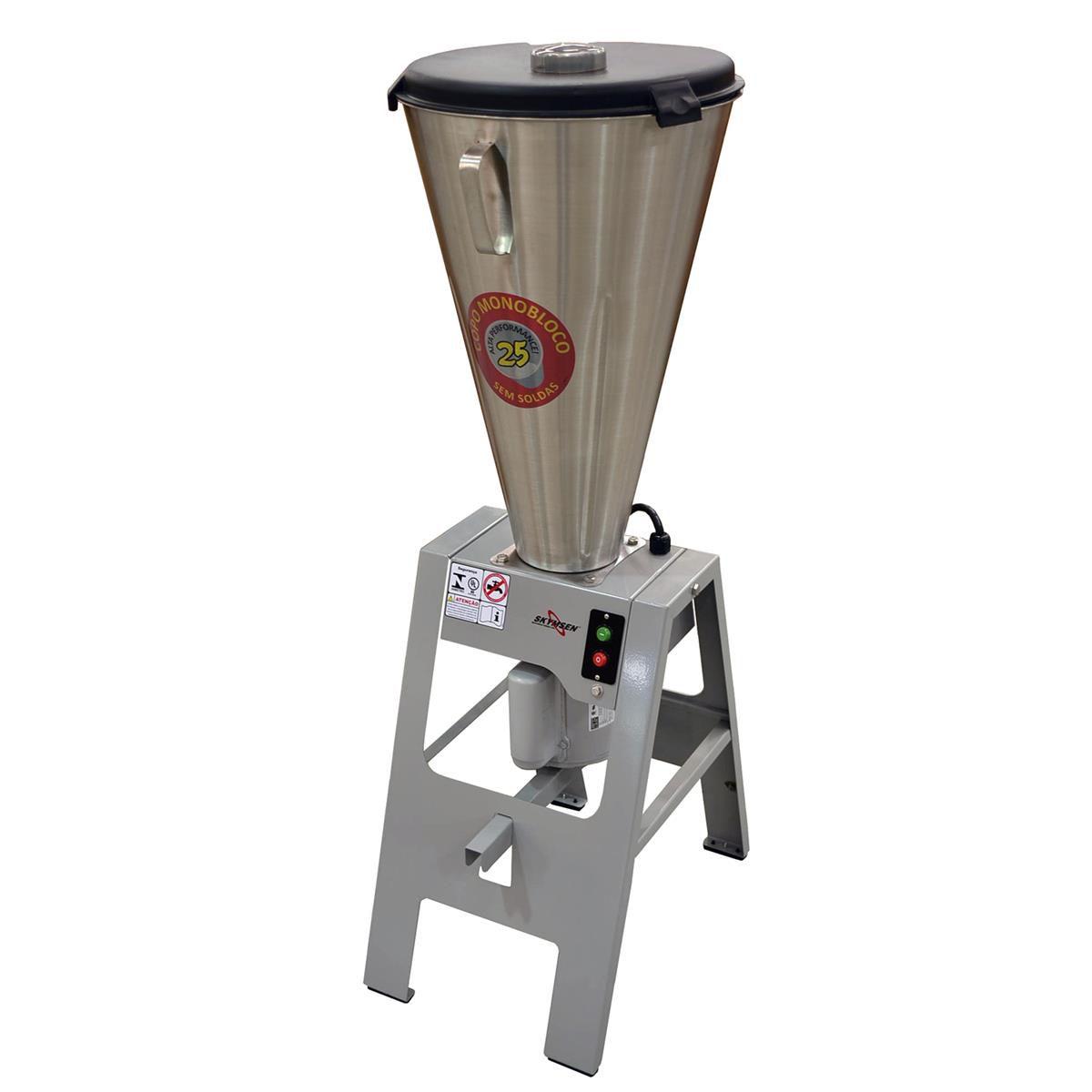 Liquidificador Comercial Basculante Copo Monobloco Inox LAR-25MB 220v SKYMSEN