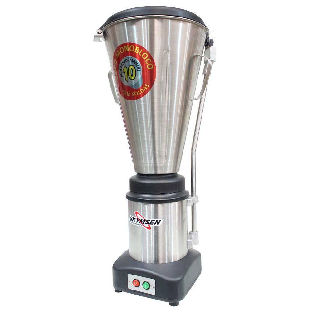 Liquidificador Comercial Inox Copo Monobloco Inox Heavy Duty 10 Litros Ls-10Mb-Hd