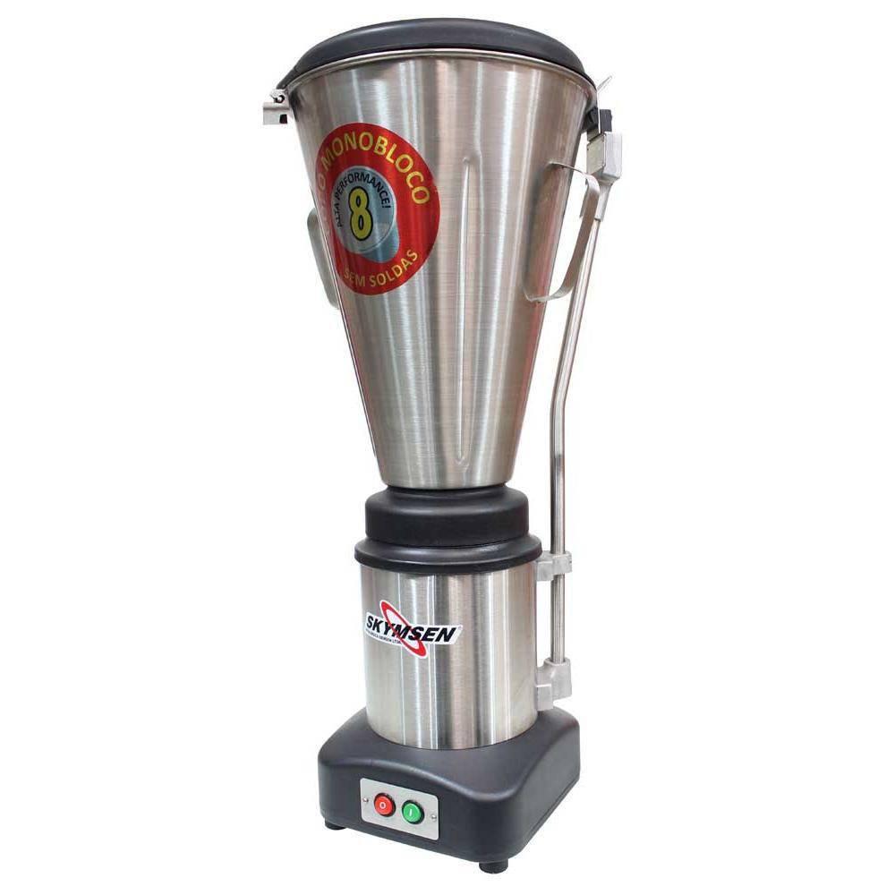 Liquidificador Comercial Inox Copo Monobloco Inox Heavy Duty 8 Litros Ls-08Mb-Hd