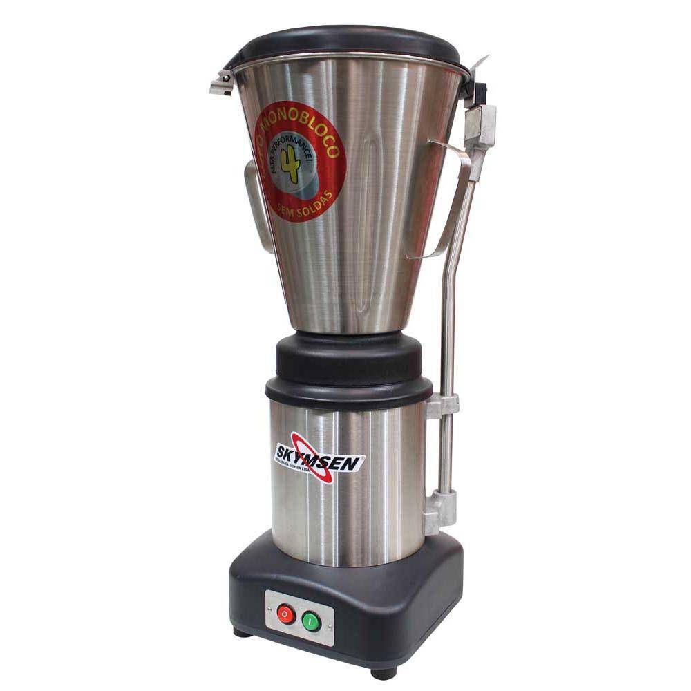 Liquidificador Comercial Inox Copo Monobloco Inox  Heavy Duty 4 Litros Ls-04Mb-Hd