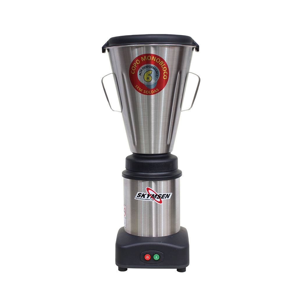 Liquidificador Comercial Inox Ls-06Mb-N Copo Monobloco 6,0 Litros 127V