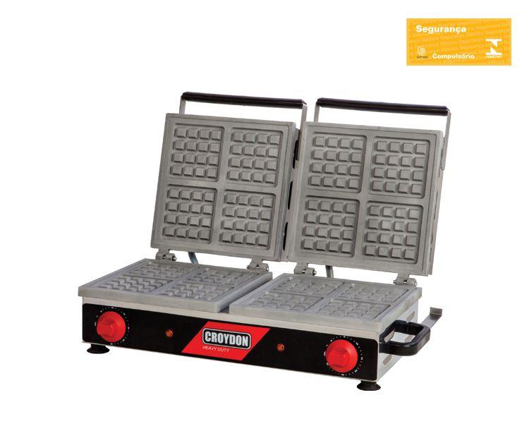 Máquina De Waffle Dupla Quadrada MWQD Croydon