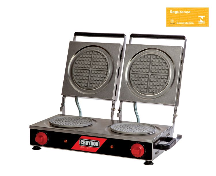 Máquina De Waffle Profissional Dupla Redonda 19Cm 220v 3600W MWRD Croydon