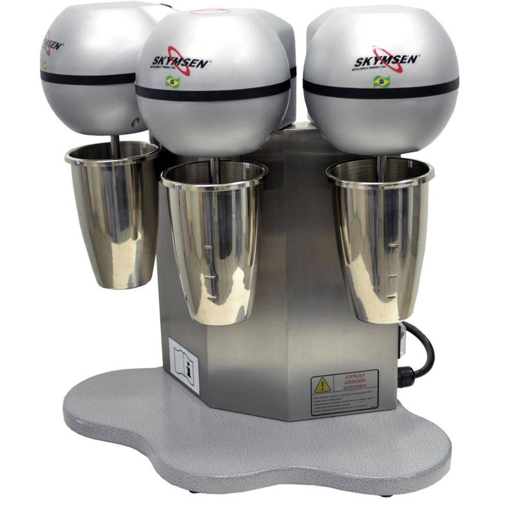 Mixer Batedor De Milk Shake Copo Inox 3 Hastes 500W 220V Bms-3-N
