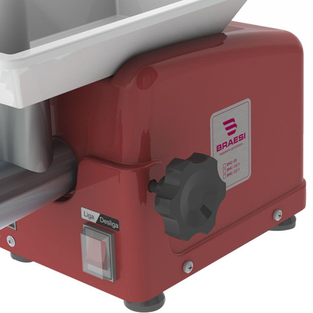 Moedor de Carne Junior Bocal 05 1/4 CV Termoformado vermelho BMC-05 G2 BIVOLT - Braesi