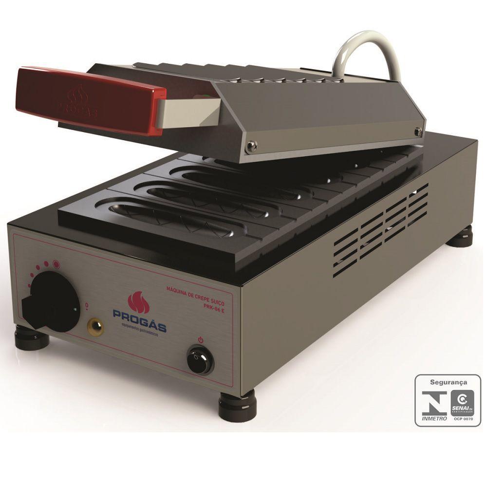 Prensa Elétrica De Crepes Suíço 06 Cavidades PRK-06 220v Progás