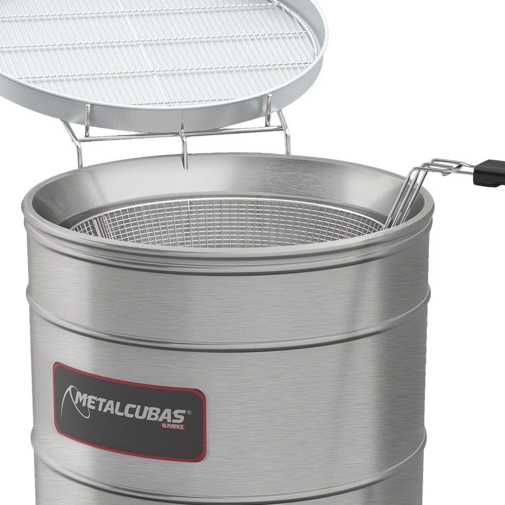 Tacho Fritador Água e Óleo Elétrico com 2 Cestos Pequenos TFAO40CP 220v Metalcubas