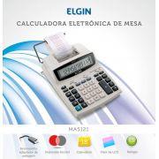 CALCULADORA ELETRÔNICA 12 DIGITOS ELGIN COM BOBINA MA 5121
