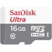 Cartão De Memória Micro SD Sandisk Com Adaptador Ultra 16GB 80MB/s