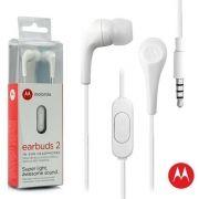 Fone De Ouvido Motorola Earbuds 2 - Branco