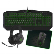 Kit 4x1 Hoopson TPC-067VD Teclado Mouse Headset e Mouse Pad Verde