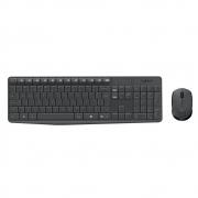 Teclado e Mouse Logitech MK235 Sem Fio Cinza ABNT2