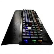Teclado Mecânico Gamer Profissional USB ABNT2 Iluminado LED RGB Metal Exbom BK-GX1 Preto