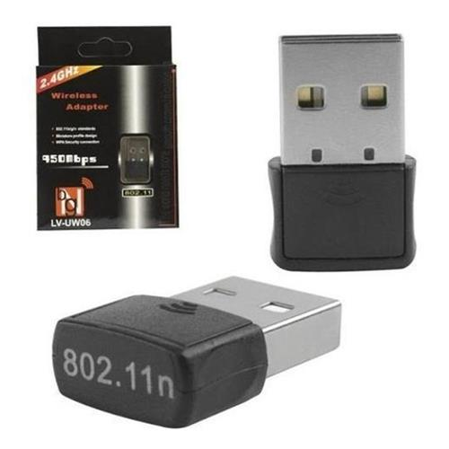 Adaptador Usb Sem Fio Wi-Fi 2.4 Ghz LV-UW06