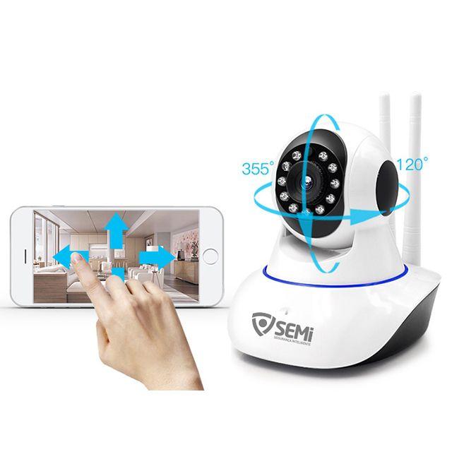 Câmera de Segurança Wi-Fi Dome Infravermelho IP Wi-Fi 720P SEMI