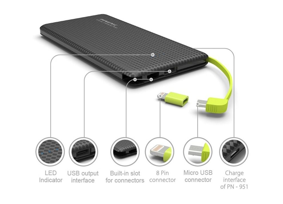 CARREGADOR PORTATIL PINENG 10000MAH SLIM PN-951