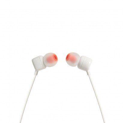 Fone De Ouvido Intra Auricular JBL Pure Bass T110 Branco