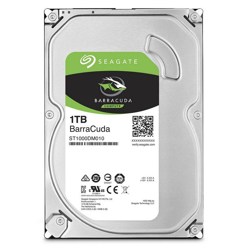 HD SATA PC SEAGATE 1TB BARRACUDA 7200RPM 3.5""