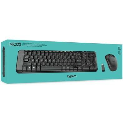 KIT TECLADO E MOUSE USB LOGITECH MK220 PRETO