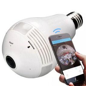 Câmera de Segurança Lâmpada Panoramic Smart Full View