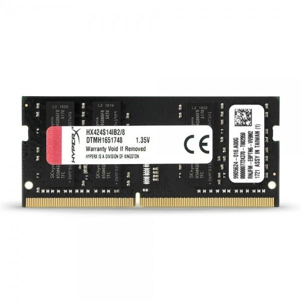 Memória para Notebook Kingston Hyperx Impact DDR4 8GB 2400Mhz HX424S14IB2/8 - Preto
