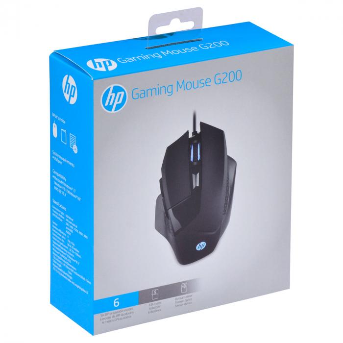MOUSE HP GAMER USB SENSOR AVAGO A3050 4000DPI G200 PRETO