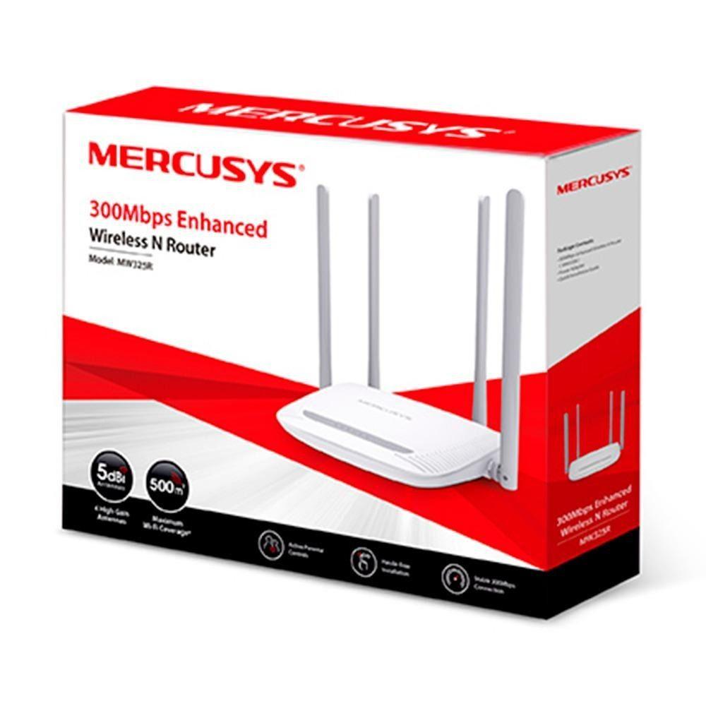 ROTEADOR MERCUSYS 300MBPS 4 ANTENAS MW325R V2.0