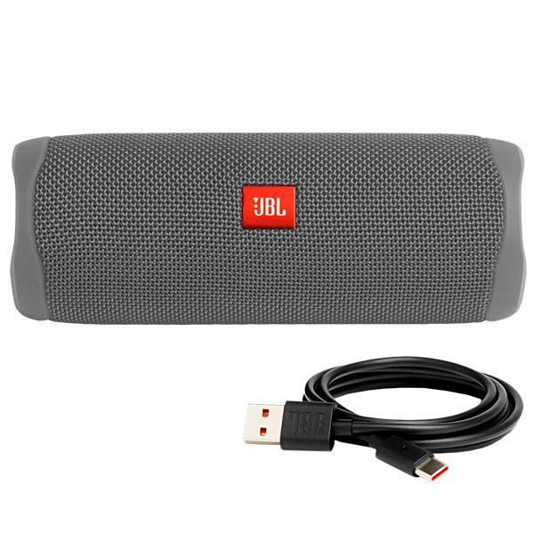 Speaker JBL Flip 5 20 watts RMS com Bluetooth - Cinza