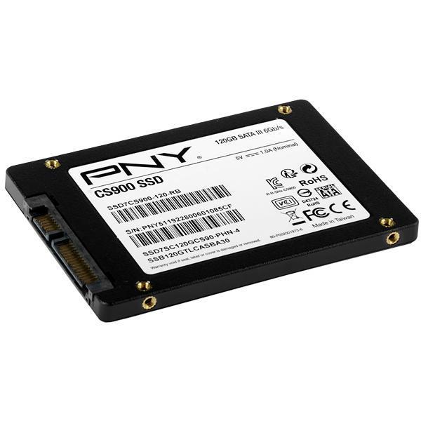 "SSD de 120GB PNY SSD7CS900-120-RB 2.5"" 515MB / s de Leitura"