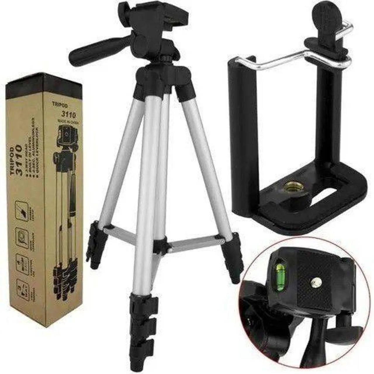 Tripé Universal Telescópico TriPod 3110 Para Câmera E Celular 102cm