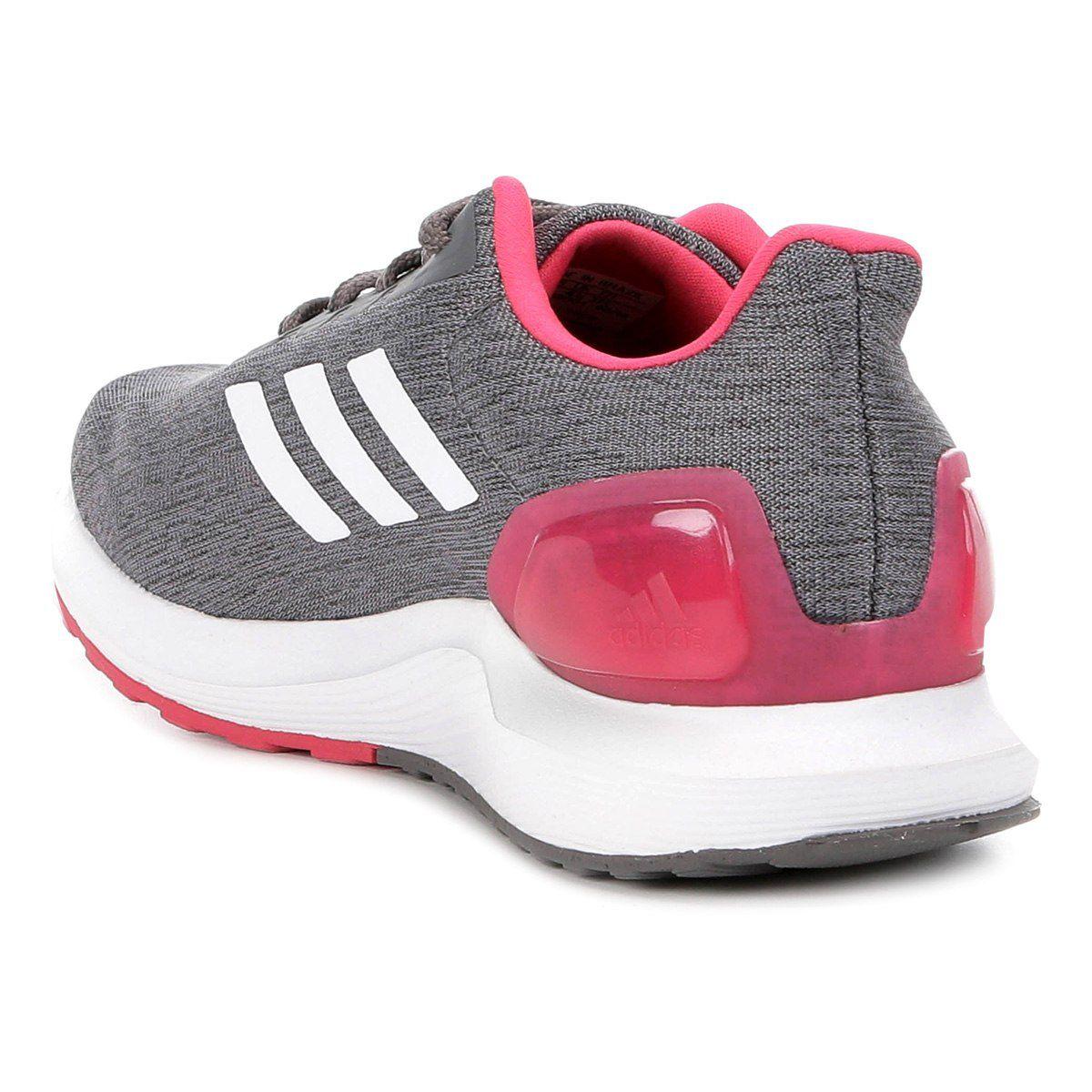 2a75d46731f Tênis Adidas Cosmic 2 Feminino - Cinza e Branco - Linha Esporte