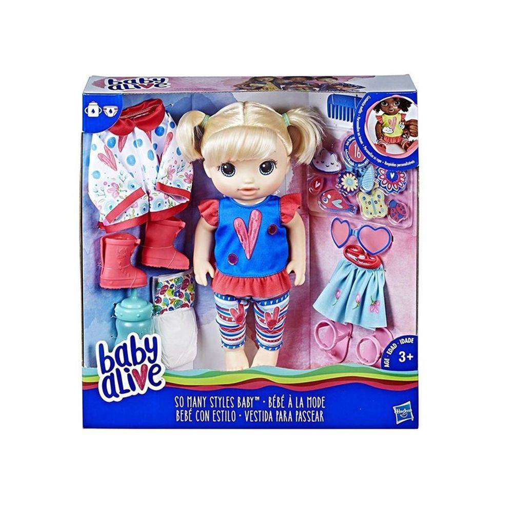 Baby Alive Loira Vestida Para Passear Hasbro
